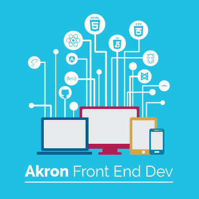 Akron Front End Development Logo